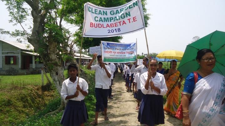Clean Garden Campaign at Budlabeta