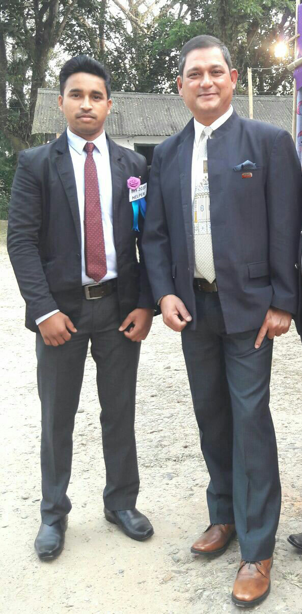 Raj Bagh - with his boss Apeejay Tea's Borjuli Tea Estate Manager